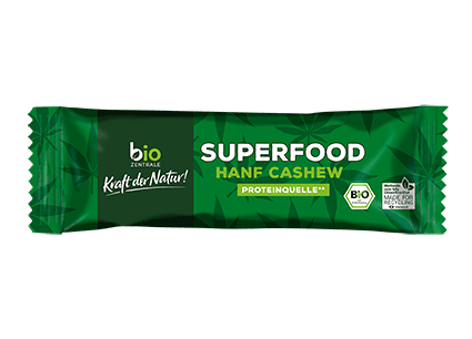 biozentrale Riegel Superfood Hanf Cashew