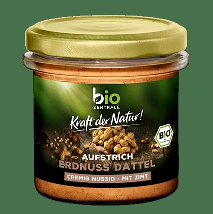 biozentrale Aufstrich Erdnuss Dattel