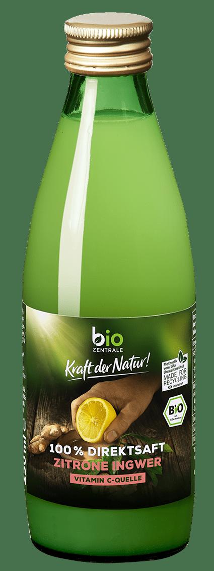 biozentrale Direktsaft Zitrone Ingwer