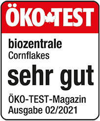 ÖKO TEST Siegel biozentrale Cornflakes